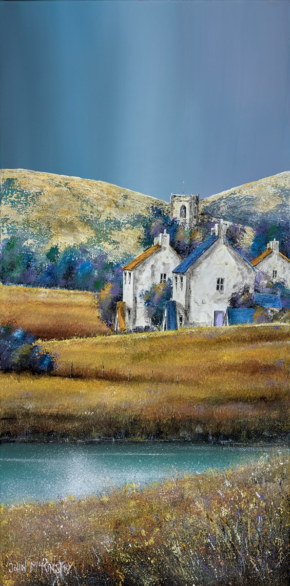 Church Hamlet II by john mckinstry -  sized 12x24 inches. Available from Whitewall Galleries